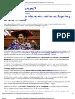 Hilaria Supa_ _La educación rural es excluyente y ha sido olvidada_ _ El Comercio Perú