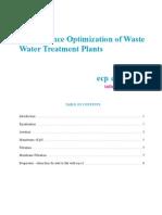 Performance Optimization of Wastewater Treatment Plants