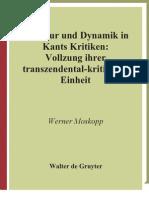 Struktur Und Dynamik in Kants Kritiken Kantstudien Erganzungshefte German Edition