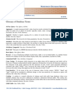 Database Glossary