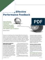 Delivering Effective Performance Feedback