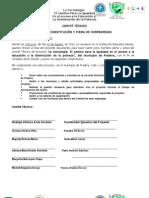 ACTA DE CONSTITUCIÓN COMITÉ TÉCNICO