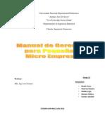Manual Gerencia Pequena y Micro Empresa