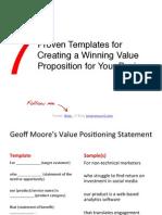 7proventemplatesforcreatingawinningvaluepropositionforyourbusiness-111129033224-phpapp02