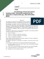 As 5013.10-2009 Food Microbiology Microbiology of Food and Animal Feeding Stuffs - Horizontal Method for The