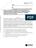 As 5013.12.3-2004 Food Microbiology - Microbiology of Food and Animal Feeding Stuffs - Horizontal Method For