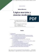 Moreno Nahuel - Logica Marxista y Ciencias Modernas