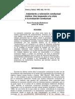 Evaluación, tratamiento y valoración conductual paradigmática