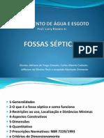 TRATAMENTO DE ÁGUA E ESGOTO - FOSSAS SÉPTICAS