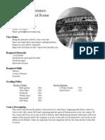Ancient Greece:Rome Syllabus