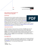Statistical Tools Spss
