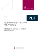 08 Sectarian Identities or Geopolitics