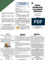 Church Newsletter - 05 August 2012