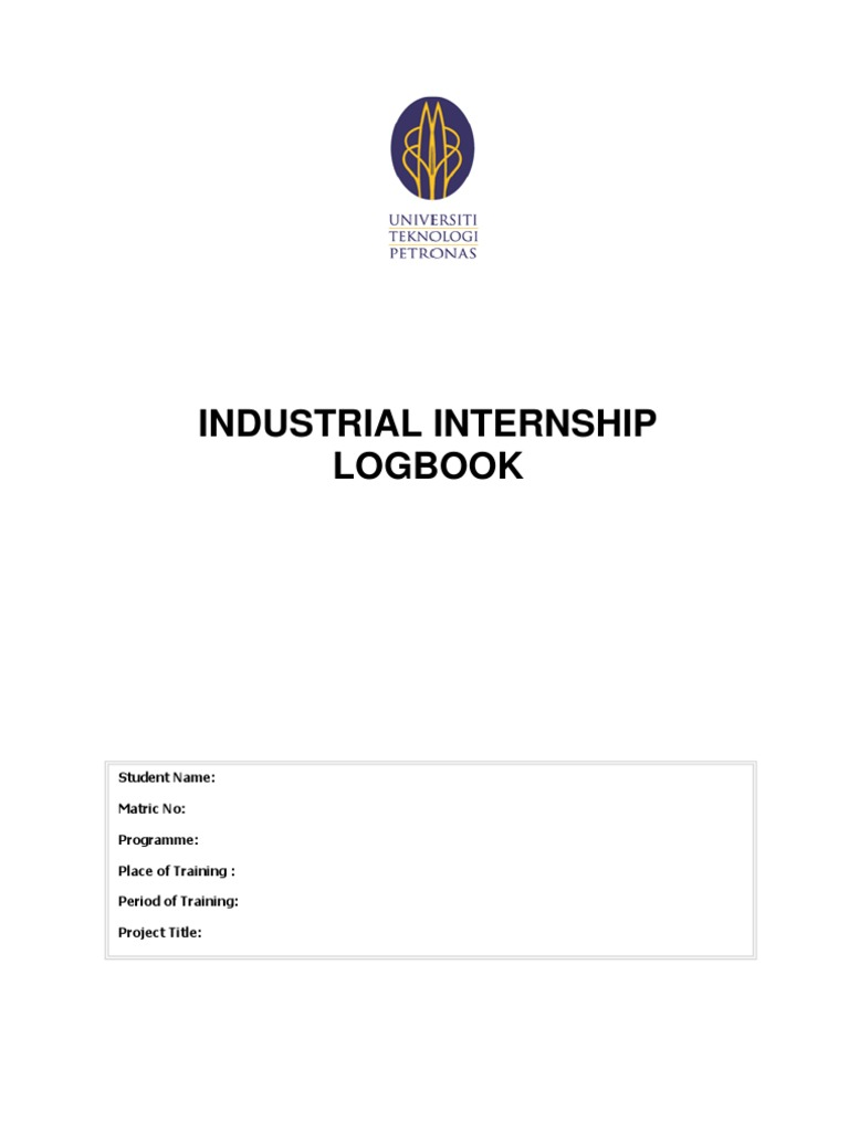 Internship Logbook   Internship   Educational Assessment