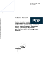 As ISO 18118-2006 Surface Chemical Analysis - Auger Electron Spectroscopy and X-Ray Photoelectron Spectroscop