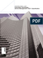 As ISO IEC 20000.1-2007 Information Technology - Service Management Specification