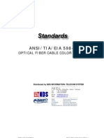 _Cabling Standard - TIA 598 a - FO Cable Color Coding