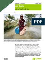 El cambio climático, la gente y la pobreza