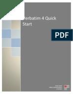 Verbatim 4 Quick Start