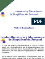 Salidas Alternativas y Mecanismos de Simplicacion Procesal