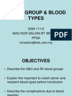 (3) Blood Group & Rh