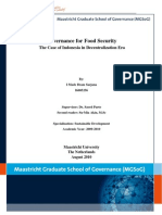 Governance for Food Security
