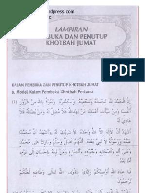 Bacaan Khutbah Jumat Tulisan Arab