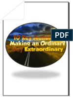 10 key actions to making an ordinary day extraordinary