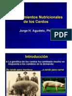 Requerimientos Nutricionales en Cerdos