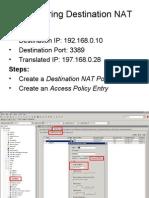 Configuring Destination NAT Rule
