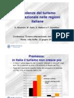 Tendenze Turismo Internazionale nelle regioni italiane