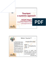 Tourism - a systemic approach