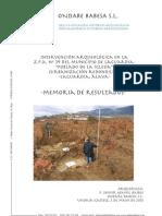 Intervención arqueológica en la ZPA nº 39 del municipio de Laguardia