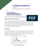 Tracing Float, Paritan, Dan Sumur Uji