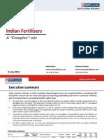 HDFC Sec Inst Research- Indian Fertilisers- A 'Complex' Mix