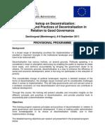 1907_Programme of Workshop on Decentralization