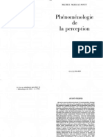 MERLEAU PONTY Phénoménologie de la perception