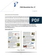 FWG Oelde - Newsletter Nummer 17 - August 2012