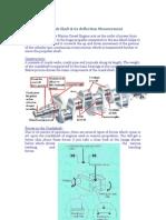 Crank Shaft & Its Deflection Measurement