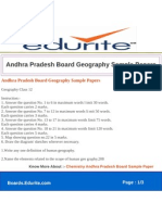 Andhra Pradesh Board Geography Sample Papers