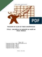 TROCADOR DE CALOR DE TUBOS CONCÊNTRICOS