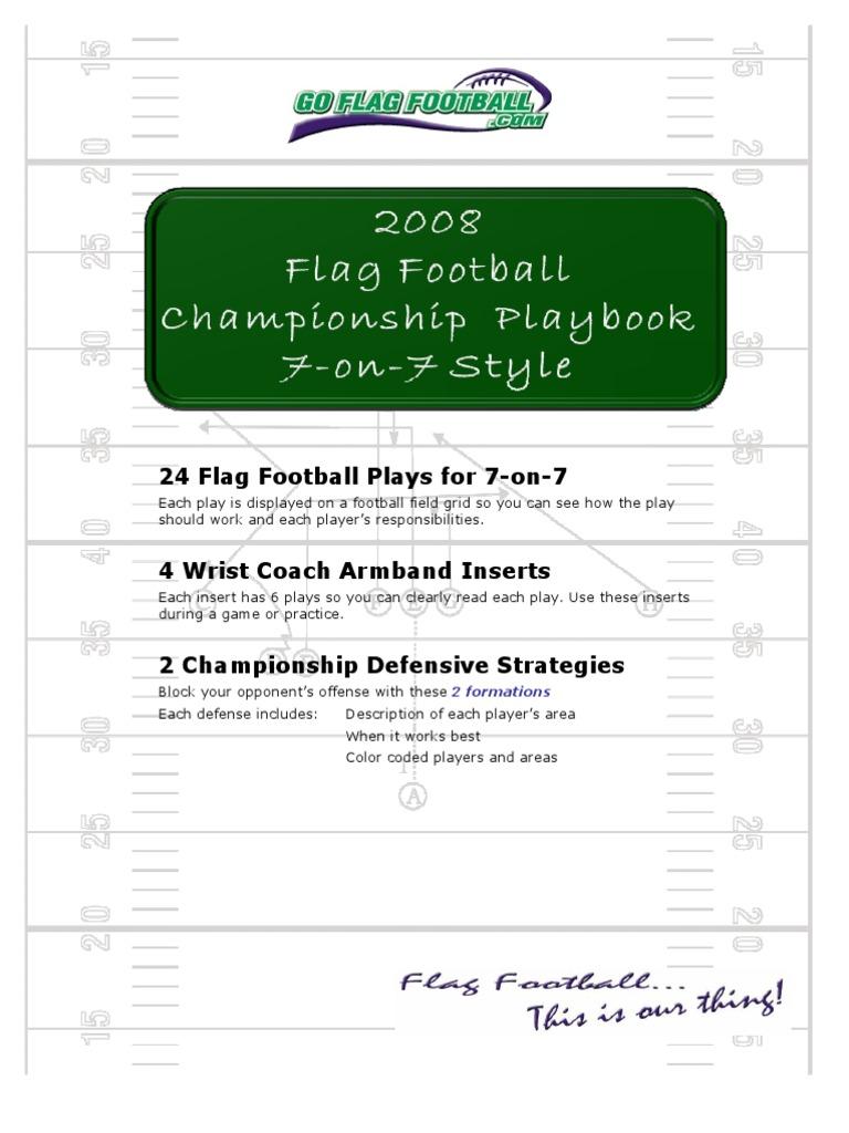 Flag Football Playbook Gridiron Football Team Sports