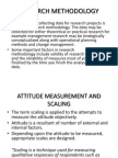 Attitude Measurement and Scaling