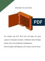 COSTRUIRE UNA BAT BOX