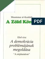 Zöld Könyv I