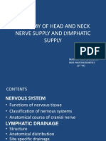 Anatomy of Head and Neck Nerve Supply and Lymphatic Drainage