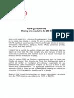 Qualium Investissement - FCPR Qualium Fund