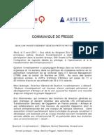 Qualium Investissement - CP Artesys Avril 2011