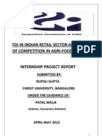 FDI in Indian Retail Sector Analysis of Competition in Agri-Food Sector