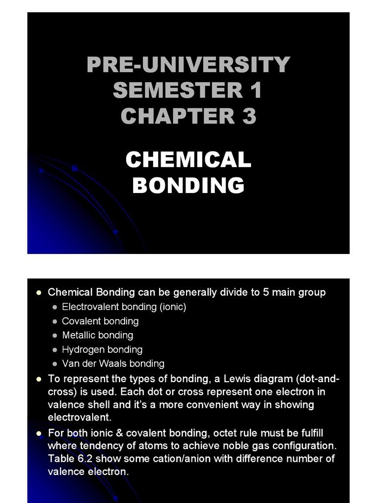 Chemistry Form 6 Chap 03 New Ionic Bonding Ion